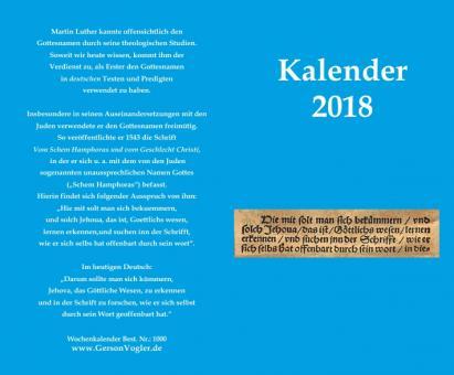 Taschen Wochenkalender 2019 Blau