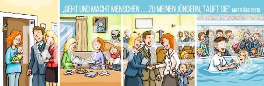 Lesezeichen mit Jahrestext Zeichnung deutsch 2020 •  Set (10 Stück)