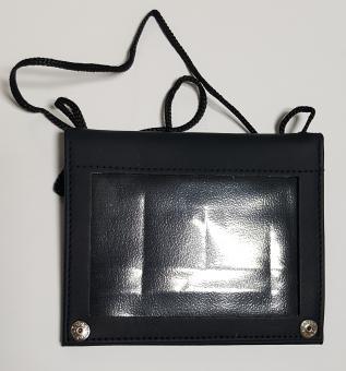 Ausweishülle für Dokumente zum Umhängen • Leder Dunkelblau