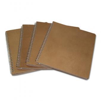 Klarsichtmappe im Zeitschriftenformat (16 Hüllen) in Lederausführung Braun