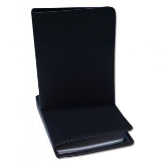 Leder-Notizsystem-Ringbuch 2-Loch System Schwarz