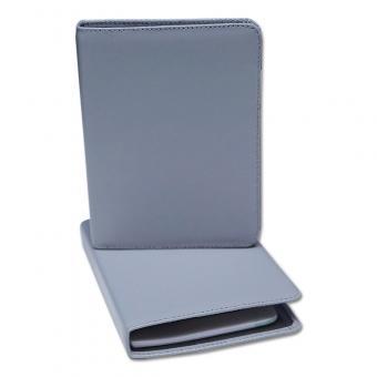 Leder-Notizsystem-Ringbuch 2-Loch System Silber