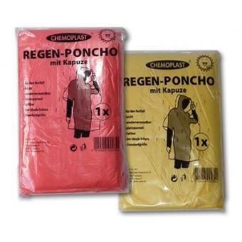 Regen-Poncho mit Kapuze Blau