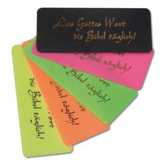 Lesezeichen Kunststoffkärtchen: Lies Gottes Wort die Bibel täglich! 1 Set (10 Stück)