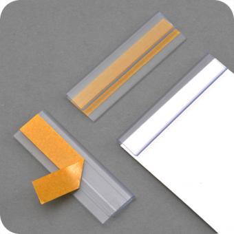 Klemmschiene - selbstklebend – Klebefläche ca. 10 x 100 mm